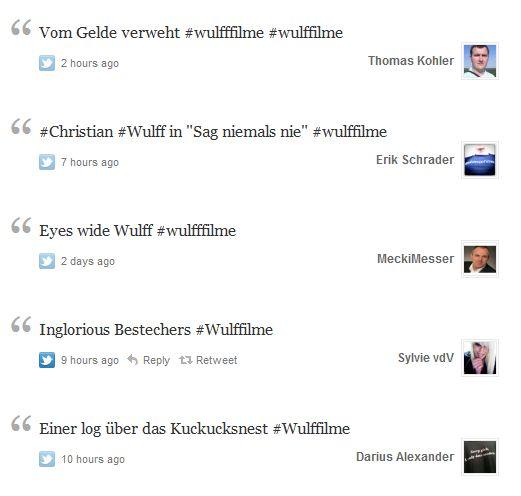 Twitter Hashtag Wulfffilme
