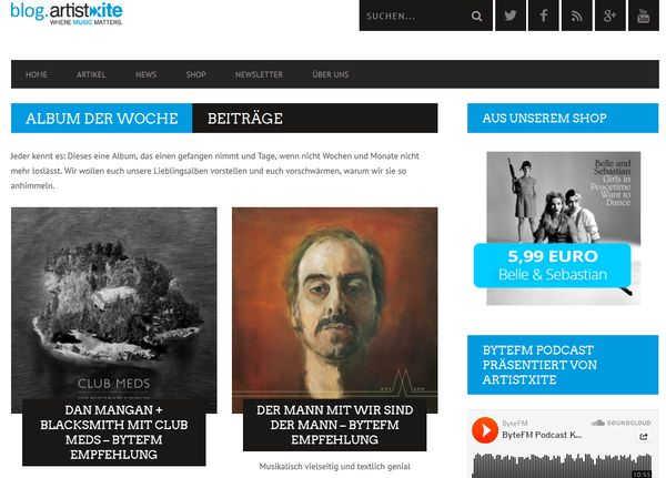 Unabhängiger Musik Blog: artistxite.de